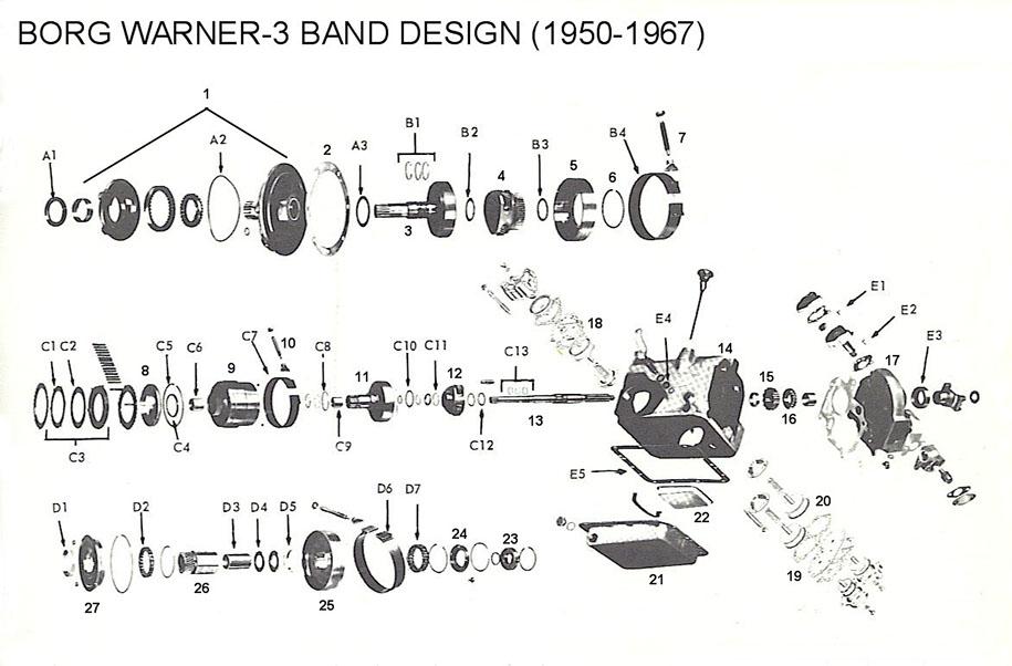 Borg Warner Transmission Parts >> Bw Dg 150 250 1950 1967