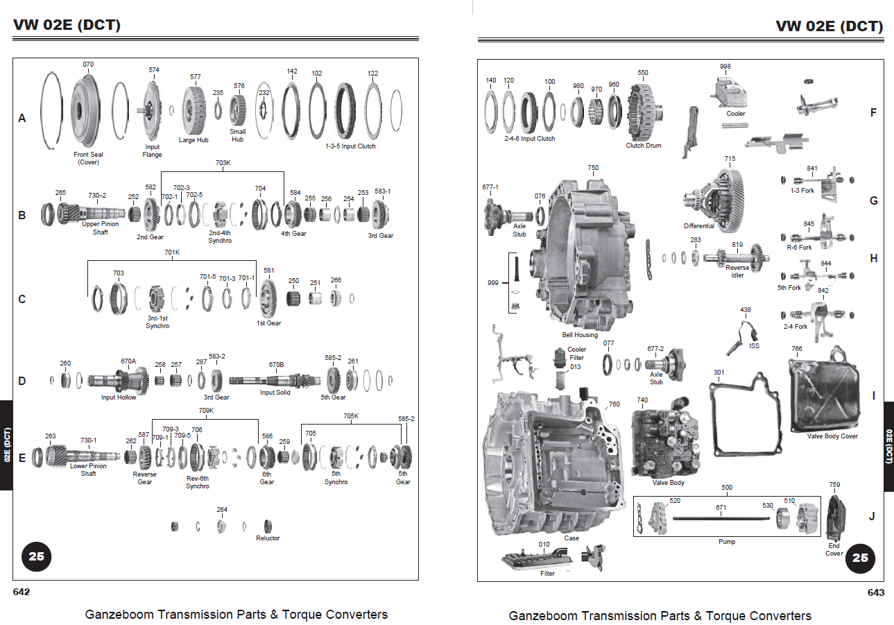 Gm Parts Diagrams Emg P Bass Wiring Diagram 02e Dq250 Wet Clutch 6 Speed Dsg 9128362 And Part