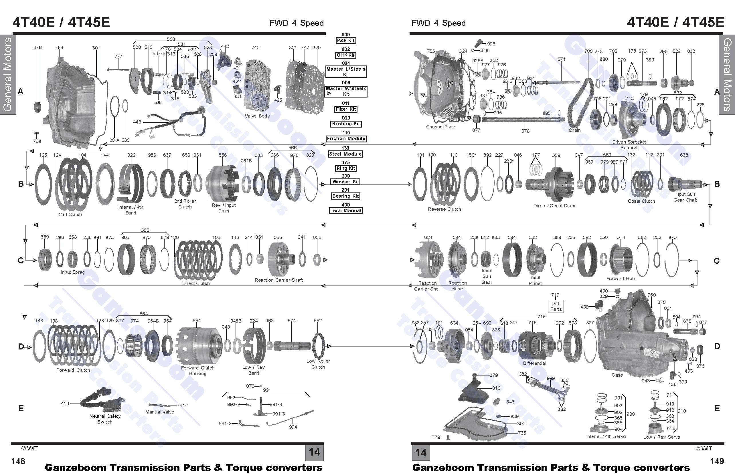 4t40e    4t45e - gm general motors