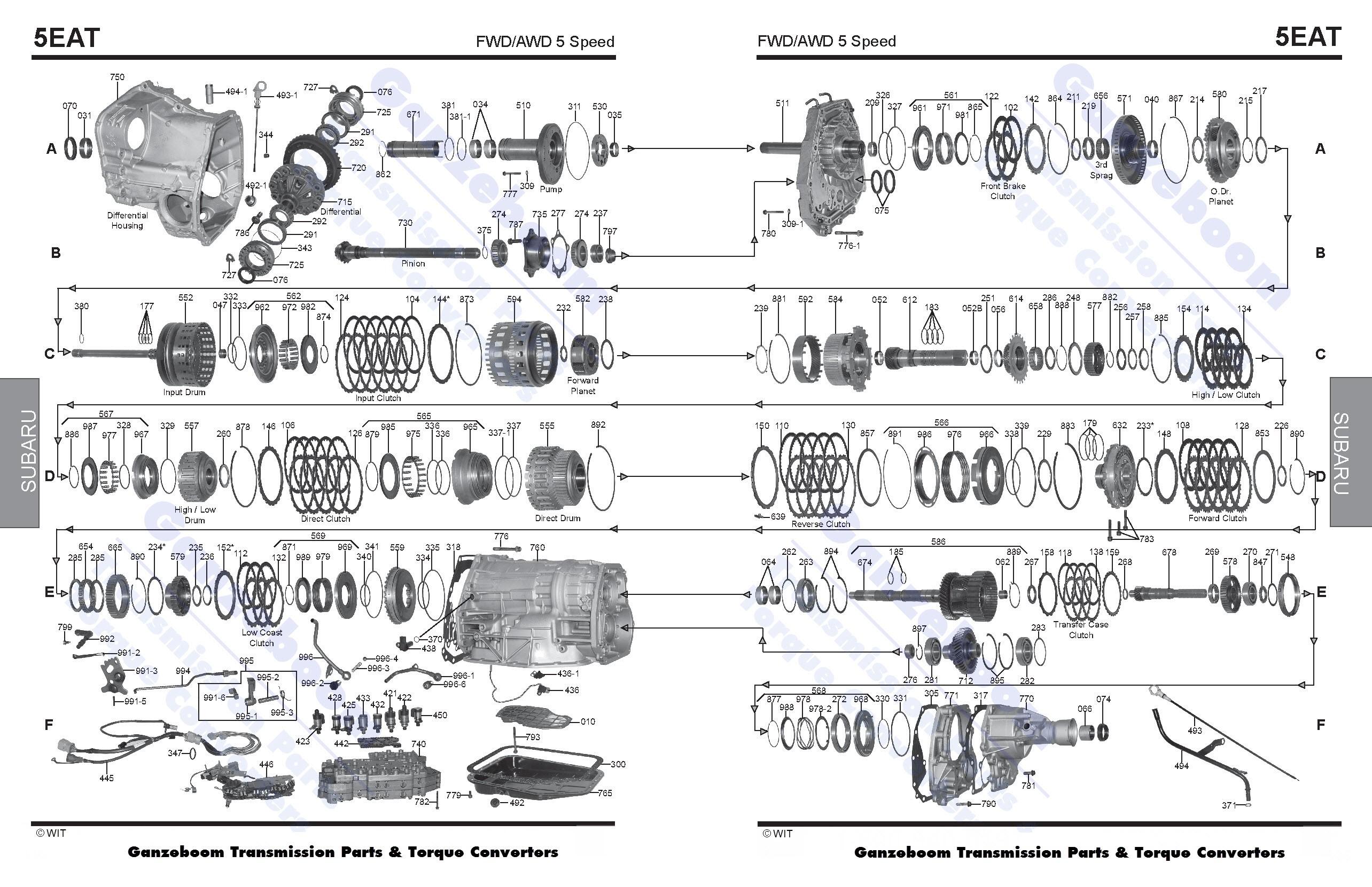 Subaru 5eat Subaru Parts Automatic Transmissions