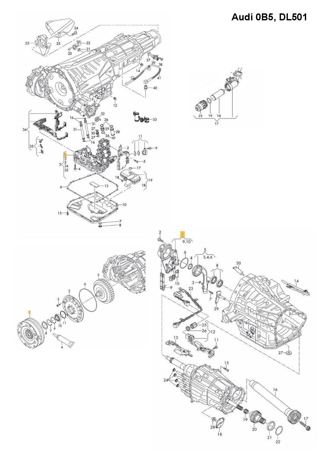 0B5 DL501 Wet clutch 7-speed DSG