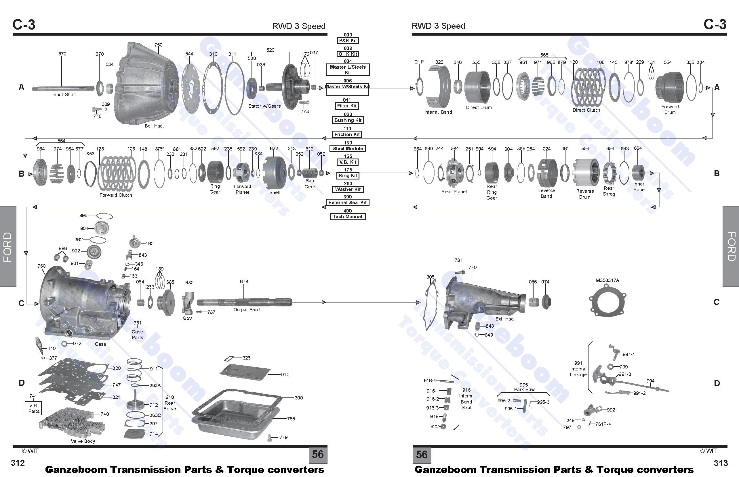ford parts automatic transmissions