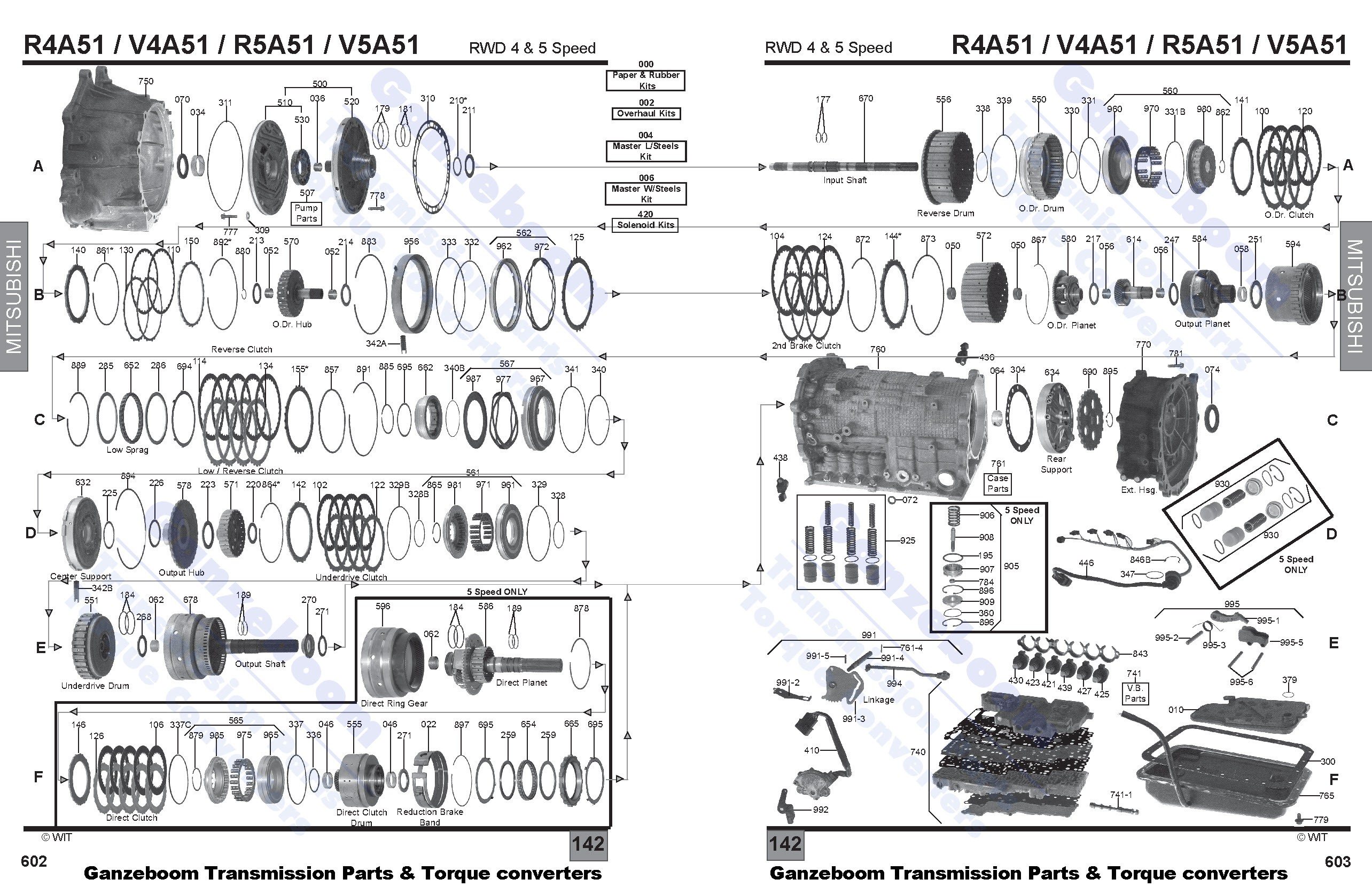 r4a51  v4a51  r5a51  v5a51 - mitsubishi