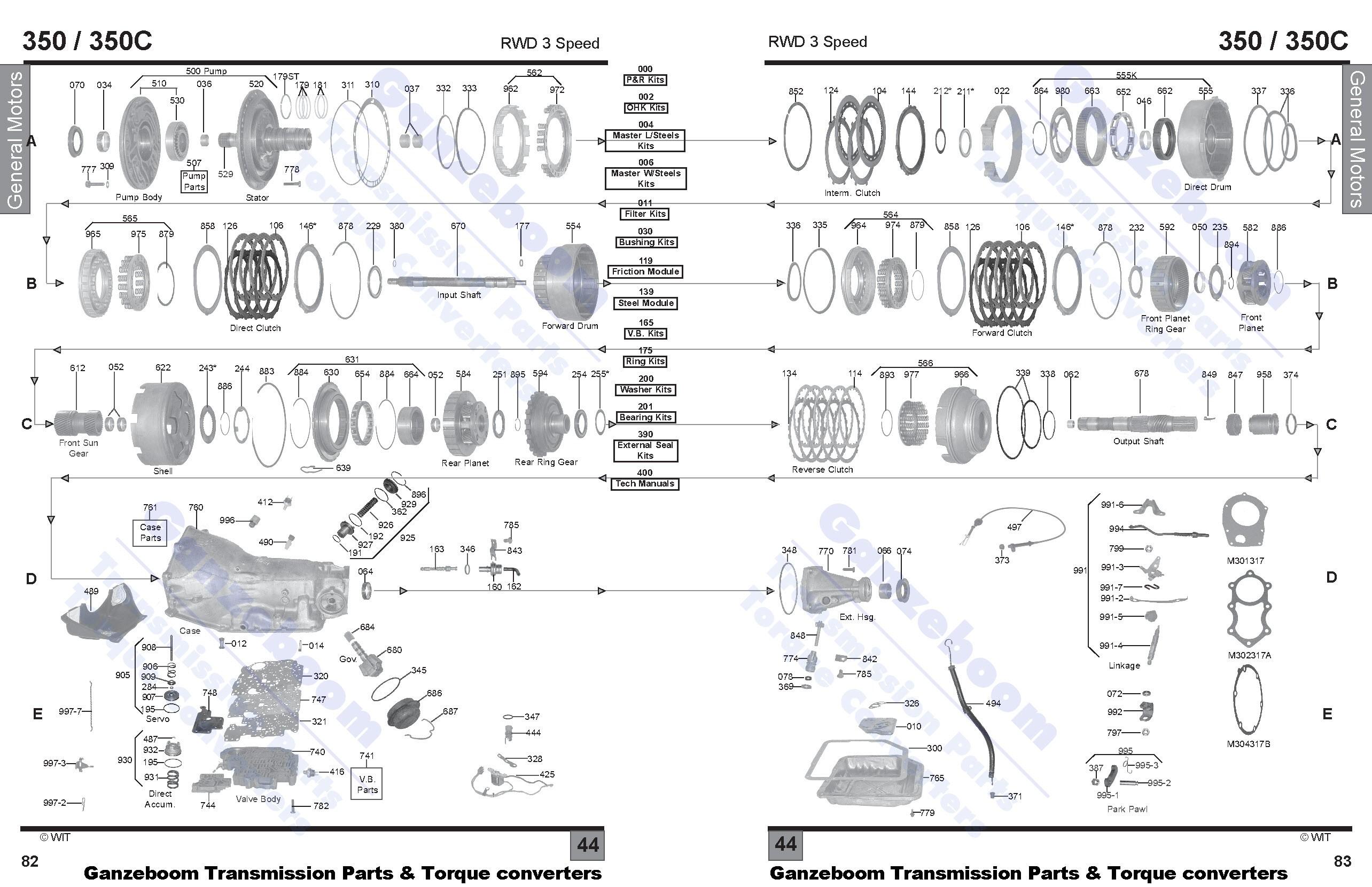 32 Th350 Valve Body Diagram